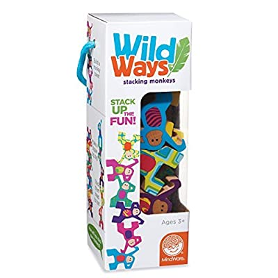 MindWare Wild Ways Stacking Wooden Animals Toys: Monkeys: Toys & Games