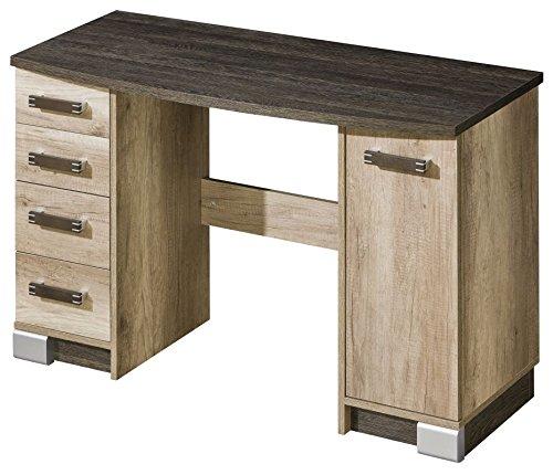 Schreibtisch Sichling 15, Farbe  Eiche Braun - Abmessungen  79 x 120 x 50 cm (H x B x T)