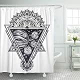Emvency Shower Curtain Planets in Solar System Triangle Composition Sacred Geometry Science Shower