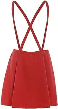 QinMM Petos de Falda para Mujer, Mini Vestido Corto Correa de ...