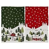 DII Christmas Tree Farm Towel Set, 1 Each ''Dashing Through The Snow!'' and ''O' Christmas Tree''