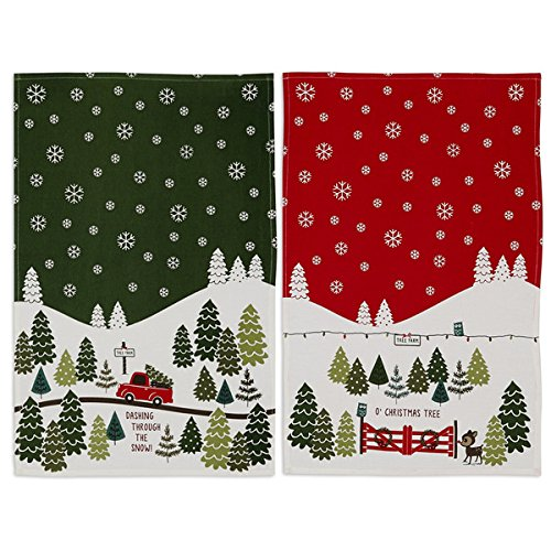 DII Christmas Tree Farm Towel Set, 1 Each