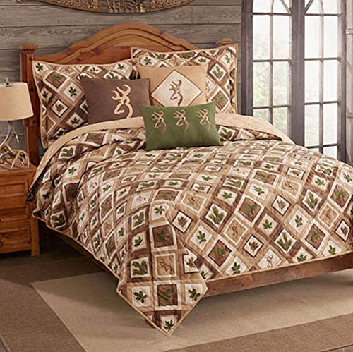 Browning Nature Buckmark Quilt and Sham Set - King (Queen)