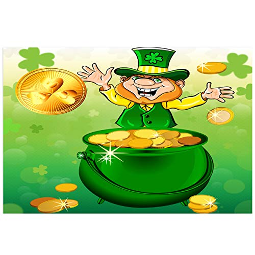 YOKOU St. Patrick's Day Aquarium Background Sticker Wallpaper 12.4