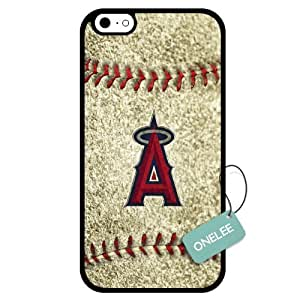 Onelee(TM) - Customized MLB Los Angeles Angels of Anaheim Team Logo Design TPU Apple iPhone 6 Case Cover - Black 03