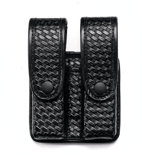 Uncle Mike's Mirage Basketweave Double Stack Duty Divided Double Mag Case, ()