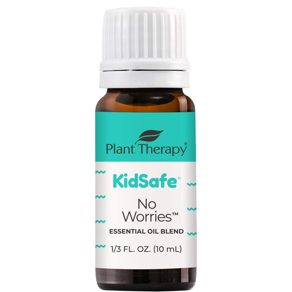 Plant Therapy KidSafe No Worries Essential Oil Blend 10 mL (1/3 oz) 100% Pure, Undiluted, Therapeutic Grade