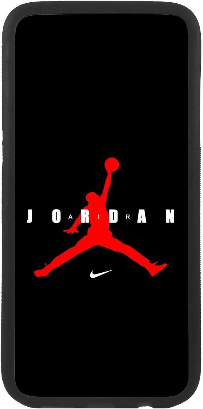 Funda Carcasa de móvil para Samsung Galaxy A6 (2018) Logotipo Nike Air Jordan Logo Rojo TPU Borde Negro