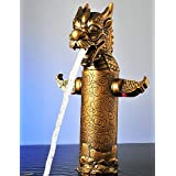 BLYC- Dragon Head Style Top Grade Luxurious Antique Two Handles One Hole Bathroom Sink Faucet