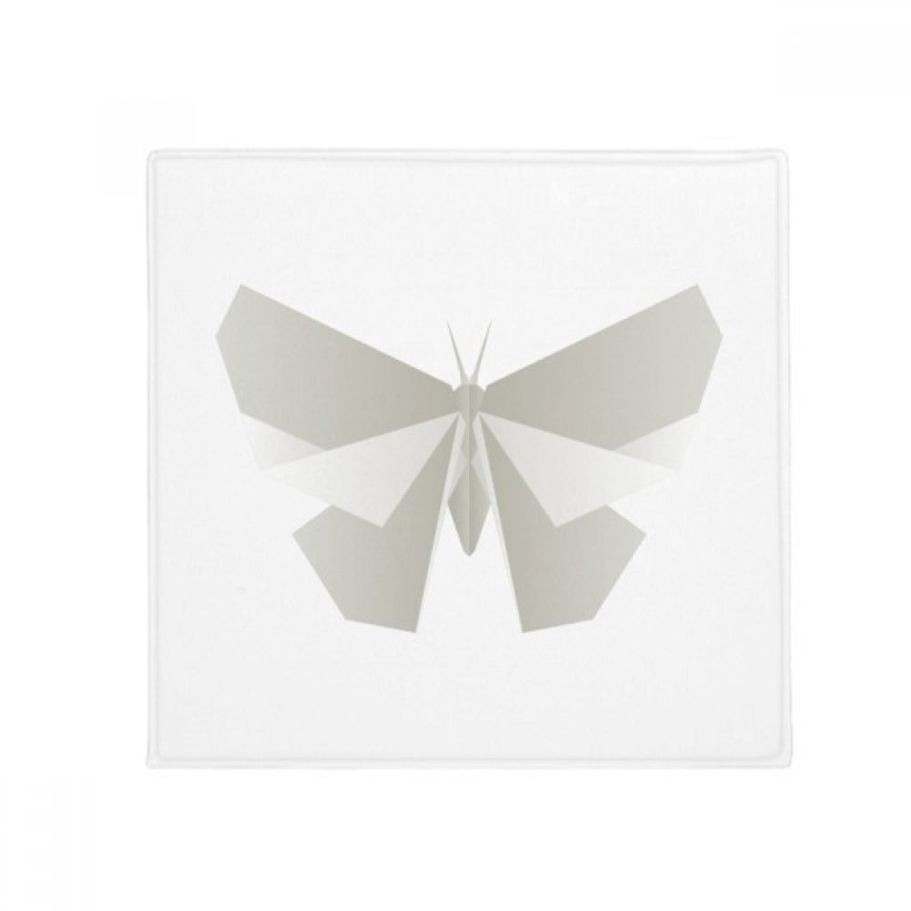DIYthinker Abstract White Butterfly Origami Pattern Anti-Slip Floor Pet Mat Square Home Kitchen Door 80Cm Gift