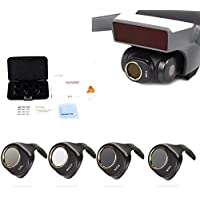 Drone Fans Camera Lens Filter Set MCUV CPL ND4 ND8 Filters Kit ND Dimmer for DJI SPARK 4 Pack Won't Affect Gimbal Calibration