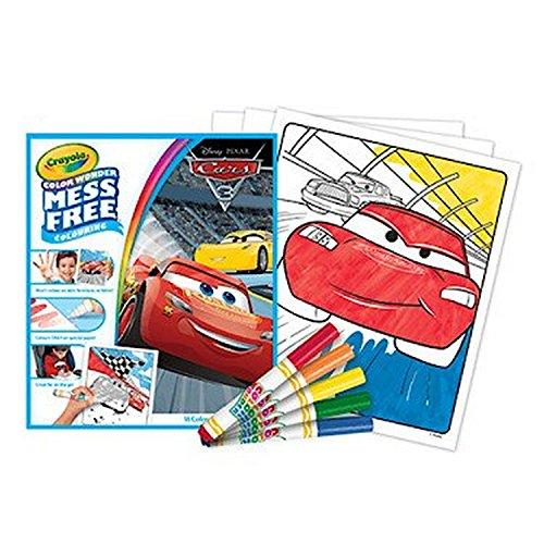 - Crayola Color Wonder Disney Pixar Cars 3 Mess Free Colouring Book & 5 Pens