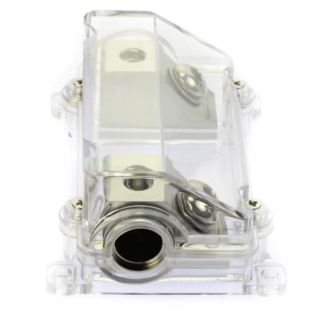 VOODOO 200 Amp ANL Fuse Brushed Nickel Holder 2/0 or 1/0 0 Gauge w/ 45 Deg Angled Cover by VOODOO (Image #4)