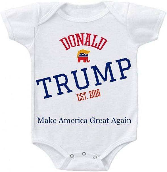 New President Trump Baby One Piece Romper /& Canzie  Bundle Newborn-18 Month