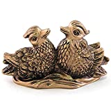Feng Shui Mandarin Ducks - (The Symbol of Love and Marriage) Brown Resin Figurine 27706