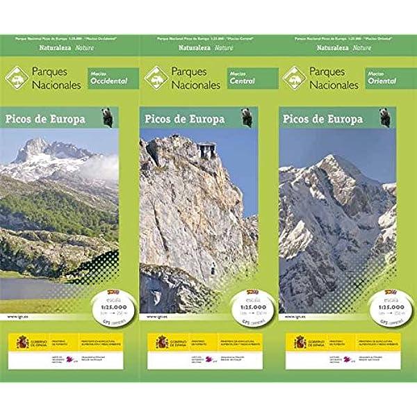 P.N. Picos de Europa. 3 mapas. Escala 1:25.000. IGN/CNIG: Amazon.es: VV.AA.: Libros