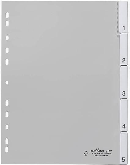 DURABLE Register blanko aus PP A4 5-tlg.