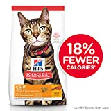 Hill's Science Diet Adult Light, alimento seco para gatos adultos, receta de pollo, para control de peso, bulto de 7.3 kg.