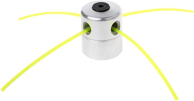 Manyo - 4 cabezales de desbrozadora, cabezal de aluminio con cables para segadora/recortadora/cortacésped - Cabezal con 4 cables de 27 cm: Amazon.es: Bricolaje y herramientas