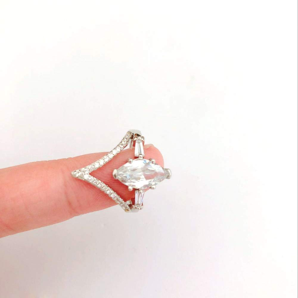 Women Simulated Diamond Bohemian Crystal Joint Knuckle Nail Ring Set Finger Rings Punk Ring by NIKAIRALEY Jewelry (Image #6)