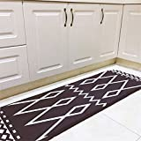 INCX No-Slip Runner Rug Kitchen rugs and mats for Floor for Kids Room Black and White 19.7 x 66.9 Inch