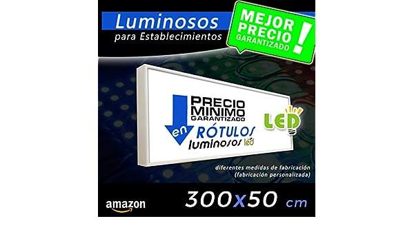 Rótulo Luminoso led 300X50, cajón luminoso para publicidad ...