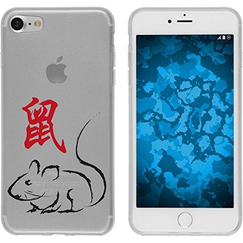 PhoneNatic Apple iPhone 7 Coque en Silicone Chinese Zodiac Motif 1 Case iPhone 7 + films de protection