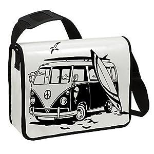 Schultertasche Schultasche Planentasche Umhängetasche Surfbus Bulli VW2...