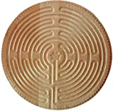 "18"" Chartres Finger Labyrinth in Finished Maple For Meditation & Prayer"