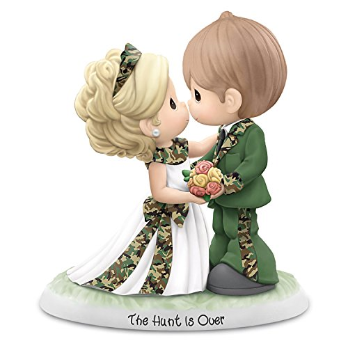 Precious Moments Figurine with Camo Wedding Couple from Theby The Hamilton Collection