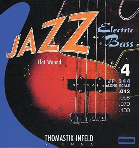 Thomastik-Infeld JF34100 Bass Guitar Strings: Jazz Flat Wounds Nickel Flat Wound; Round Steel Core - Single E String