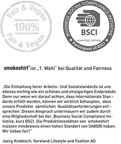 Smokeshirt CLUB portasigarette dimensioni slim 63 mm cassa di sigaretta involucro della sigaretta tessile per sigarette custodia per sigarette 20 sigarette
