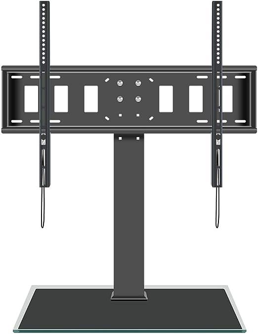 Getrichar Soporte Móvil de TV de 50 a 80 Pulgadas Soporte Giratorio de Suelo para Televisión Giratorio 360 Grados Altura Ajustable MAX VESA 600x800 mm hasta 80kg de Peso Gestión de Cables: