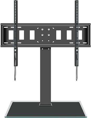 Invinld Soporte Móvil de TV de 50 a 80 Pulgadas Soporte Giratorio de Suelo para Televisión Giratorio 360 Grados Altura Ajustable MAX VESA 600x800 mm hasta 80kg de Peso Gestión de Cables: