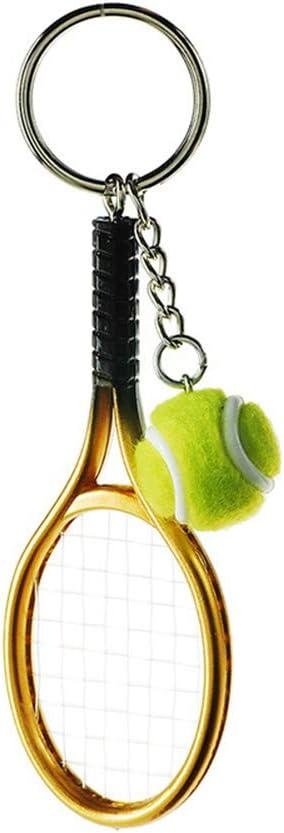 Tonpot Tennis PVC Porte-cl/és en M/étal Porte Voitures Porte-cl/és Femme Sac Mignon D/écoration Porte-cl/és pour Hommes Femmes