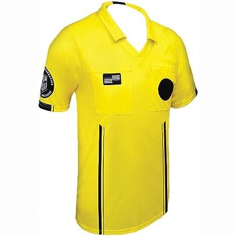 e4160e6eeab Amazon.com   New USSF Men s Economy Yellow Soccer Referee SS Shirt (Yellow