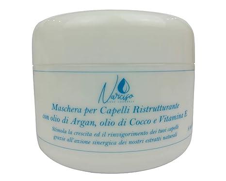 Mascarilla para el cabello - Rizado - Encrespado - Dañado - Reestructurante - Aceite orgánico de