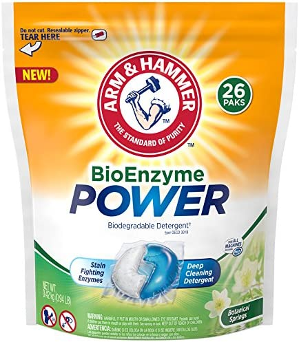Arm & Hammer Bioenzyme Power Laundry Detergent Packs, 26 Count by ...