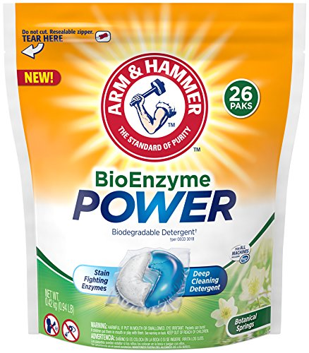 Arm & Hammer Bioenzyme Power Laundry Detergent Packs, 26 Count
