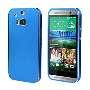 Coromose New Luxury Ultra-thin All Metal Aluminum Case Cover for HTC One 2 M8 (Blue)