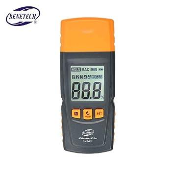 censhaorme GM605 LCD Digital de Humedad de la Madera Medidor de Humedad Tester 0~41% de la Madera Detector de Humedad: Amazon.es: Hogar