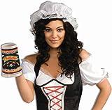 mop cap - White Mob Cap Hat Mop Colonial Bonnet Pilgrim Adult Costume Accessory