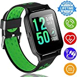 ONMet Fitness Tracker Smart Watch for Women Men Kid with Heart Rate Blood Pressure Sleep Monitor GPS Activity Tracker Run Outdoor Sport Watch Pedometer Calorie Sync Phone for Android iOS