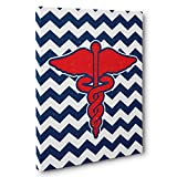 Medical Chevron Caduceus Canvas Wall Art