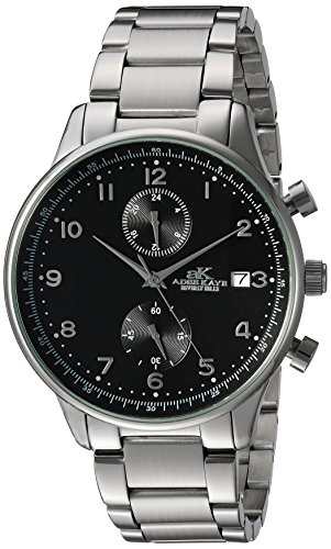 Adee Kaye Men's Quartz Stainless Steel Fitness Watch, Color:Silver-Toned (Model: ()