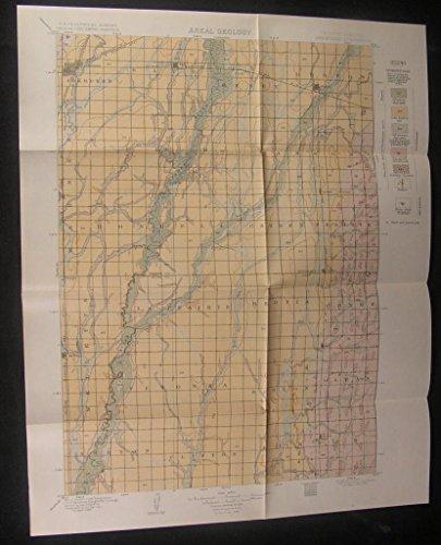 Aberdeen Garden Prairie Clifton South Dakota 1908 antique color Geology map ()