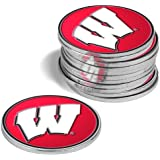 Wisconsin Badgers Golf Ball Markers (4 Pack)