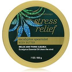 Bath & Body Works Aromatherapy Body Butter Eucalyptus Spearmint Stress Relief Holiday Edition 7oz - Lotion Cream