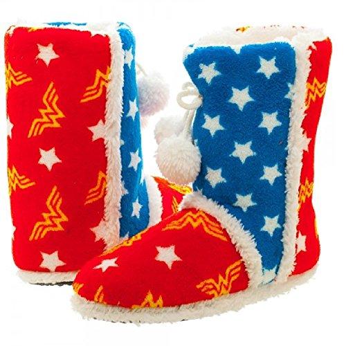 DC Comics Wonder Woman Boot Slippers (Small) Blue