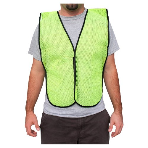 Economy Cool Mesh Vest (Rugged Blue RB Mesh Fabric Economy Non-ANSI Safety Vest, X-Large, Hi-Vis Yellow)
